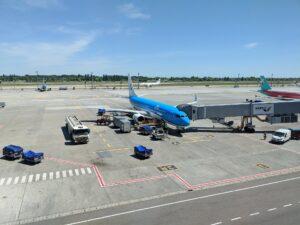 KLM Boeing 737 at Kyiv Boryspil Terminal D
