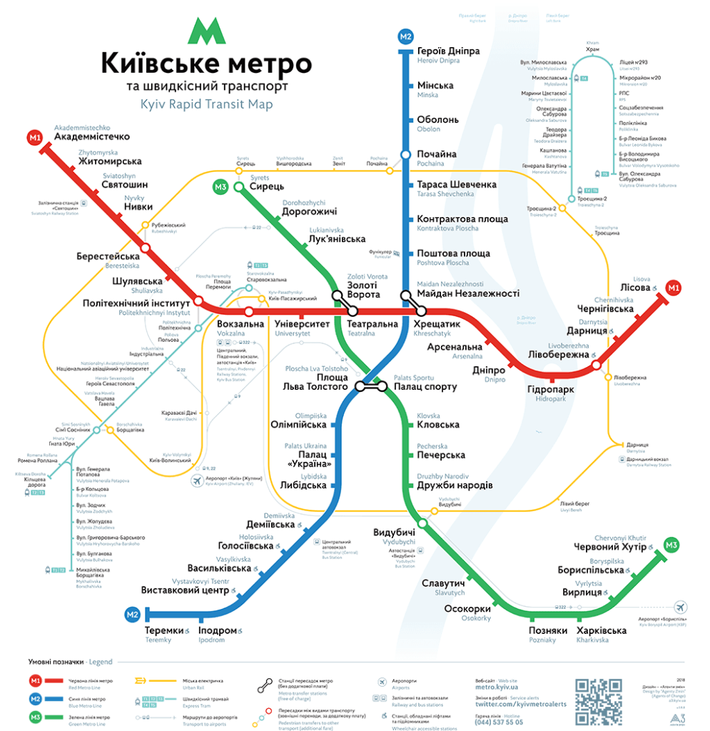 New Kyiv Metro Map