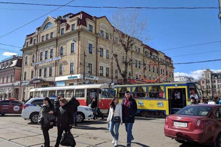 Trams in Kyiv