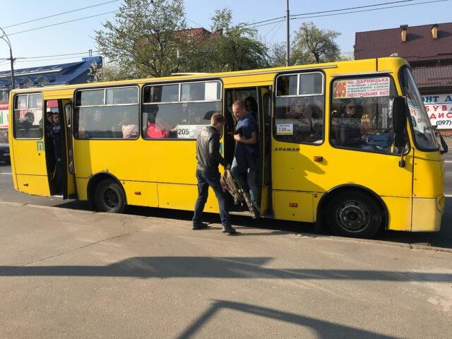 Marshrutka in Kyiv