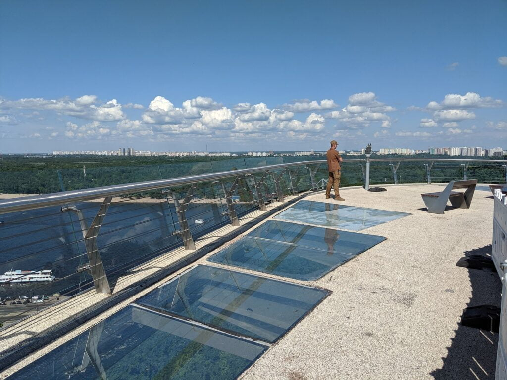 Kyiv Pedestrian Bridge Glass Floor