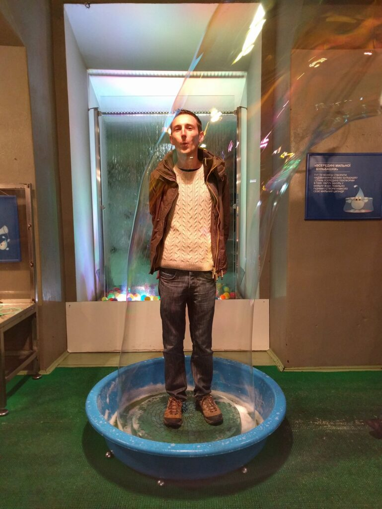 Human Bubble, Water Museum Kyiv